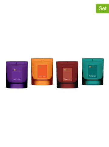 """Dr Botanicals 4-delige set: geurkaarsen """"Relaxing"""" meerkleurig - 4x 200 g"""