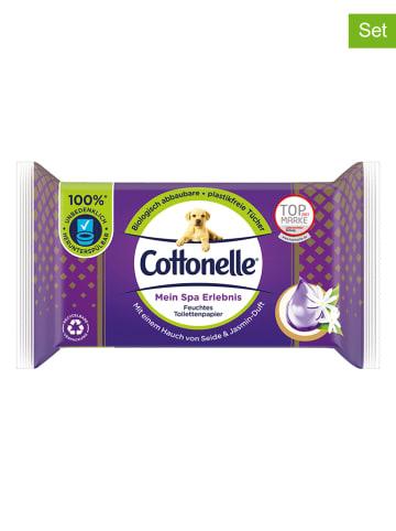 """Cottonelle 12er-Set: Feuchtes Toilettenpapier """"Mein Spa Erlebnis - Jasmin"""" - 12x 42 Stück"""