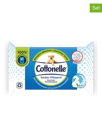 """Cottonelle 12er-Set: Feuchtes Toilettenpapier """"Sauber Pflegend"""" - 12x 42 Stück"""