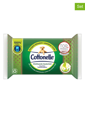 "Cottonelle 12er-Set: Feuchtes Toilettenpapier ""Wohltuende Sauberkeit"" - 12x 38 Stück"