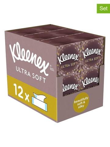 """Kleenex 12er-Set: Kosmetiktücher """"Ultra Soft"""" - 12x 56 Stück"""