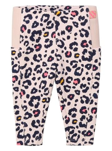 Billieblush Spodnie w kolorze jasnoróżowo-czarnym