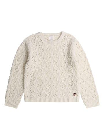 Carrément beau Sweter w kolorze kremowym