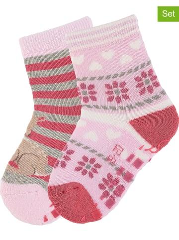 """Sterntaler 2er-Set: ABS-Socken """"Bambi"""" in Rosa"""