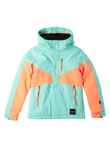 "O`Neill Ski-/ Snowboardjacke ""Coral"" in Türkis/ Orange"