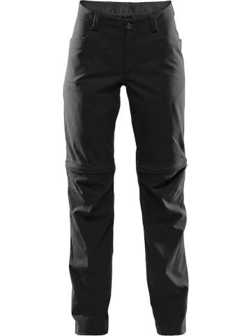 """Haglöfs Spodnie funkcyjne """"Zipp Off"""" w kolorze czarnym"""