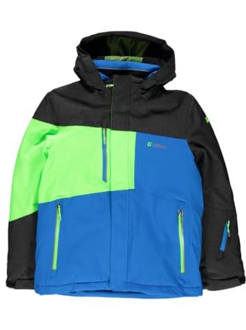 """Killtec Kurtka narciarska """"Fiss"""" w kolorze zielono-niebiesko-czarnym"""