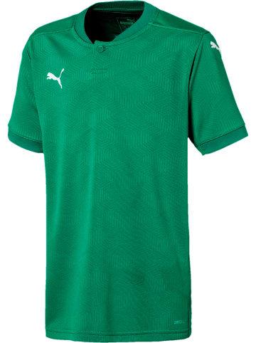 """Puma Koszulka sportowa """"Team Final 21"""" w kolorze zielonym"""