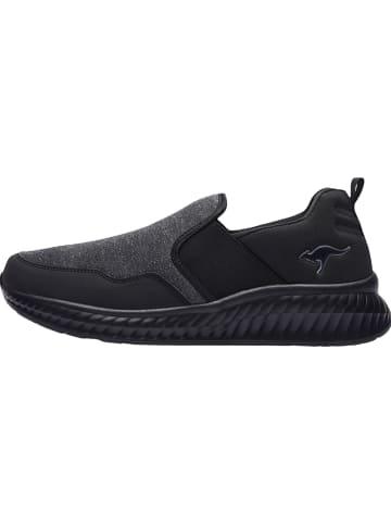 """Kangaroos Slippersy """"KM-Herb"""" w kolorze czarnym"""