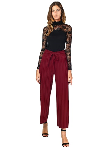 ASSUILI Spodnie w kolorze czerwonym