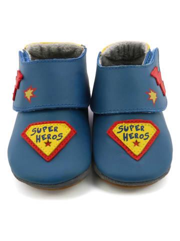 """Robeez Leder-Krabbelschuhe """"Super Heros"""" in Dunkelblau"""