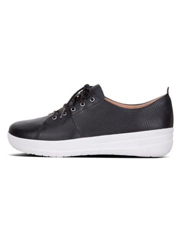 Fitflop Leder-Sneakers in Schwarz