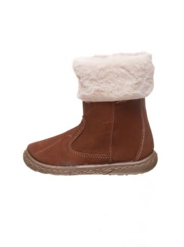 Kmins Leder-Boots in Hellbraun