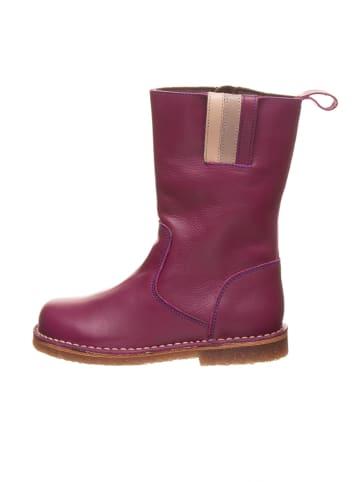 Kmins Leder-Stiefel in Fuchsia