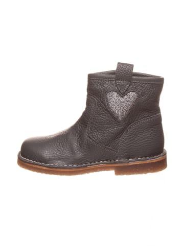 Kmins Leder-Boots in Grau