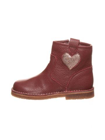 Kmins Leder-Boots in Fuchsia