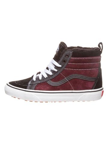 "Vans Leder-Sneakers ""Sk8-Hi MTE"" in Bordeaux/ Schwarz"