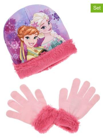 "Disney Frozen 2tlg. Winteraccessoires-Set ""Frozen"" in Rosa/ Pink"