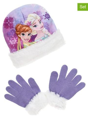 """Disney Frozen 2tlg. Winteraccessoires-Set """"Frozen"""" in Lila/ Weiß"""
