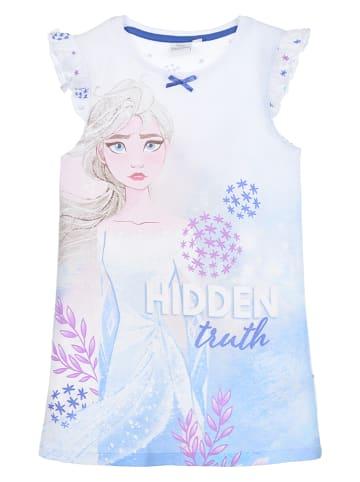 """Disney Frozen Koszula nocna """"Frozen"""" w kolorze biało-błękitnym"""