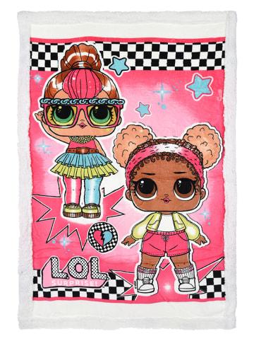 "L.O.L. Surprise Koc polarowy ""LOL Surprise"" w kolorze różowym - 140 x 90 cm"