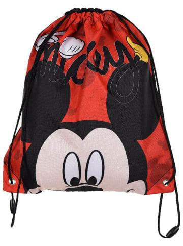 """Disney Mickey Mouse Worek sportowy """"Mickey Mouse"""" czarno-czerwonym - 31,5 x 37,5 cm"""