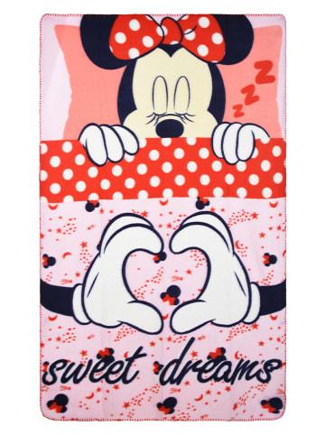 """Disney Minnie Mouse Koc polarowy """"Minnie Mouse"""" w kolorze jasnoróżowym - 100 x 150 cm"""