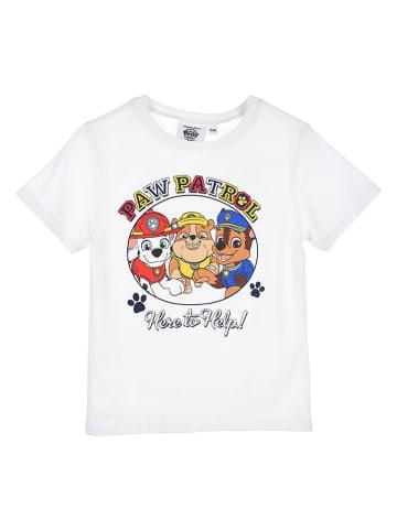 """Paw Patrol Koszulka """"Paw Patrol"""" w kolorze białym"""