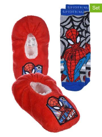 """Spiderman 2-częściowy zestaw """"Spider-Man"""" w kolorze czerwono-niebieskim"""