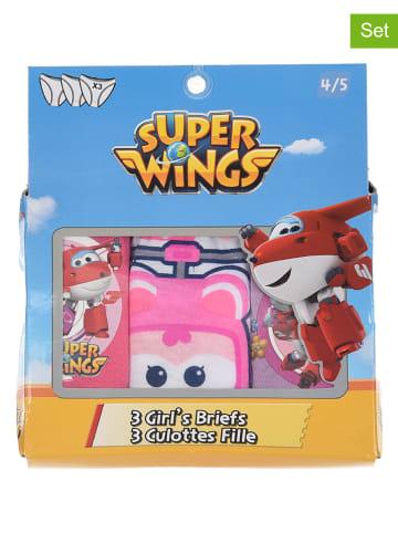 """Super Wings 3-delige set: slips """"Super Wings"""" roze/lichtroze/paars"""