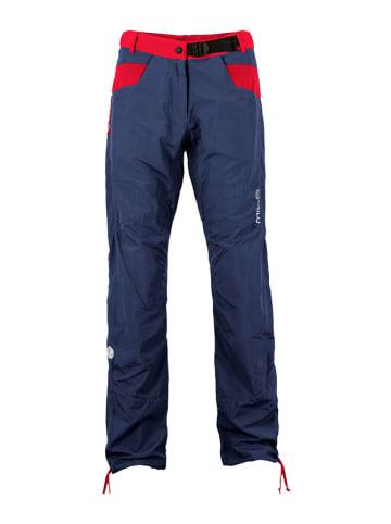 MILO Spodnie wspinaczkowe w kolorze granatowo-czerwonym