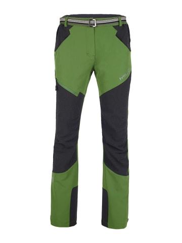 MILO Spodnie trekkingowe w kolorze szaro-zielonym