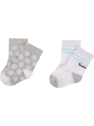 Timberland 2-delige set: sokken grijs/wit
