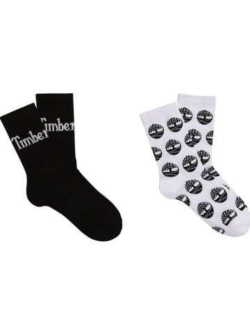 Timberland 2-delige set: sokken zwart/wit