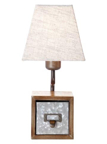 """Brilliant Lampa stołowa """"Casket"""" w kolorze beżowym - wys. 34 cm"""