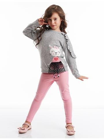 Deno Kids 2tlg. Outfit in Grau/ Rosa