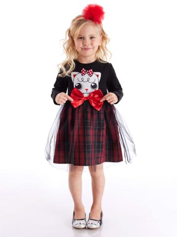 """Deno Kids Sukienka """"Red Ribbon"""" w kolorze czerwono-czarnym"""