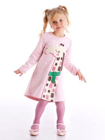 """Deno Kids Sukienka """"Giraffe"""" w kolorze jasnoróżowym"""