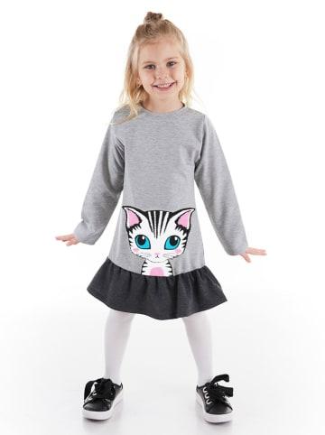 """Deno Kids Sukienka """"Lady Cat"""" w kolorze szarym"""
