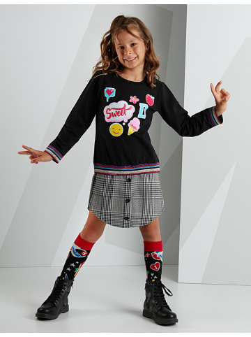 """Deno Kids Sukienka """"Sweet Stickers"""" w kolorze czarnym"""