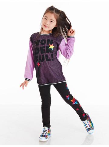 """Deno Kids 2-częściowy zestaw """"Wonderful"""" w kolorze fioletowo-czarnym"""