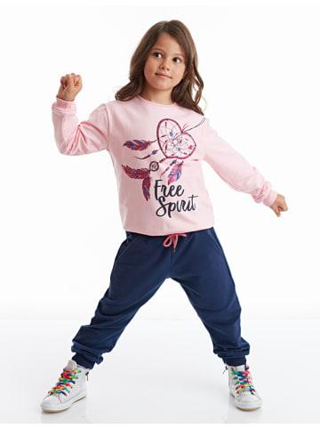 """Deno Kids 2-częściowy zestaw """"Free Spirit"""" w kolorze jasnoróżowo-granatowym"""