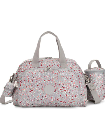 "Kipling Wickeltasche ""Camama"" in Grau/ Pink - (B)43,5 x (H)27,5 x (T)28 cm"