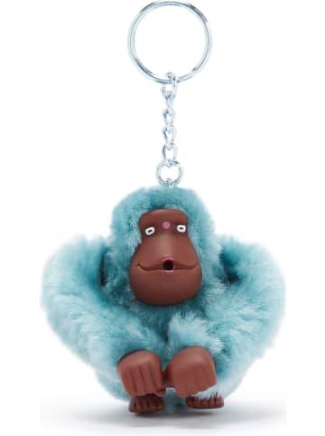 """Kipling Brelok """"Monkeyclip"""" w kolorze błękitnym na klucze - 5 x 7 x 4,5 cm"""