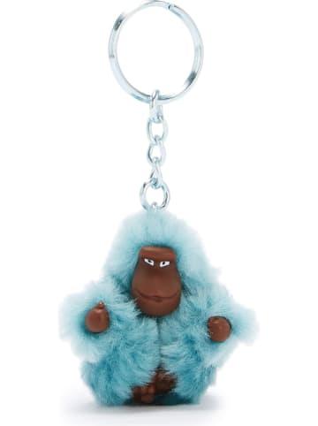 """Kipling Brelok """"Monkeyclip"""" w kolorze błękitnym na klucze - 4 x 4,8 x 2,5 cm"""