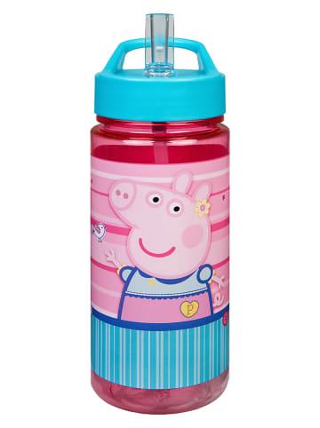 """Peppa Pig Drinkfles met rietje """"Peppa Pig"""" turquoise/roze - 450 ml"""