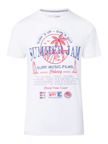 """Timezone Koszulka """"Summer Jam"""" w kolorze białym"""
