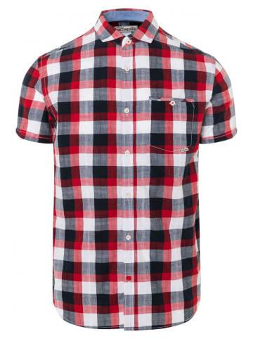 Timezone Koszulka - Regular fit - w kolorze czerwono-szaro-białym