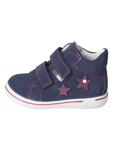 "PEPINO Leder-Sneakers ""Sia"" in Dunkelblau"