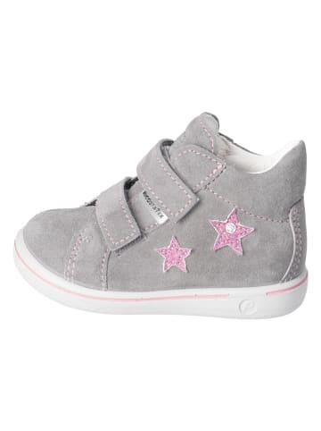 "PEPINO Leder-Sneakers ""Sia"" in Grau"